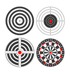Shooting range targets icons template vector