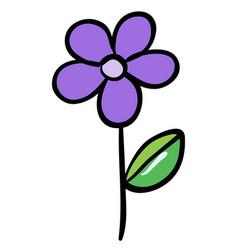 Single flower in purple color vector