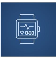 Smartwatch line icon vector image