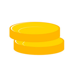 stacks gold money coins income money coins and vector image