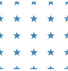 starfish icon pattern seamless white background vector image