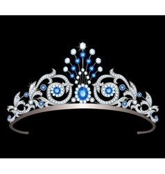 Tiara with sapphires vector