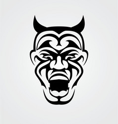 Tribal Devil Face vector image