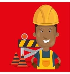 under construction worker vector image