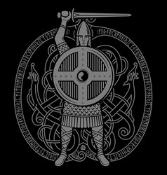 Viking design old norse warrior vector