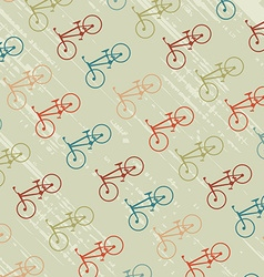 Vintage background with bicycles silhouettes vector
