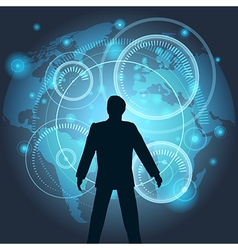 Virtual Technology vector image vector image