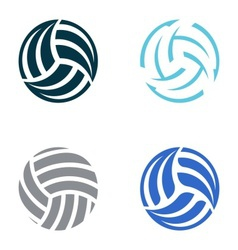 Volleyball balls vector