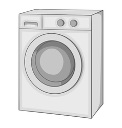 Washing machine icon gray monochrome style vector image