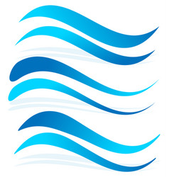 wavy lines as water elements dynamic undulating vector image
