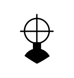 weapon sight aim icon filled flat sign solid vector image