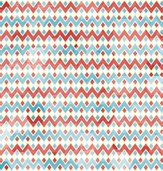 zigzag seamless pattern with grunge effect vector image