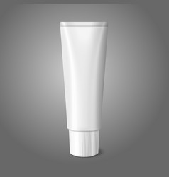Blank white realistic tube for toothpaste lotion vector image