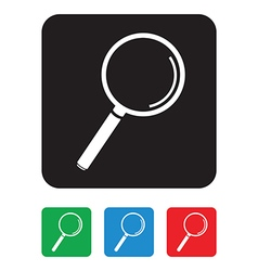 magnifying glass group vector image