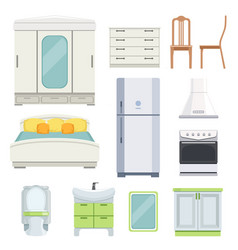 modern furniture for bedroom kitchen and living vector image vector image
