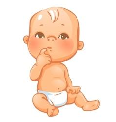 Portrait of curiuos little baby vector image vector image