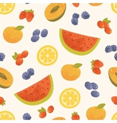 seamless sweet summer background vector image vector image