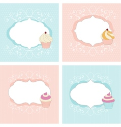 Set of greetings cards vector image