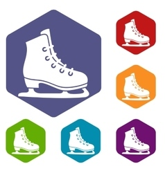 Skates icons set vector image vector image