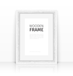 White Frame on a Glossy Surface vector image