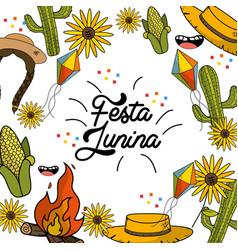 brazilian things to celebrate festa junina vector image