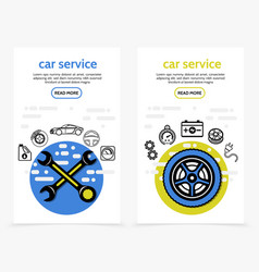 Car service vertical banners vector
