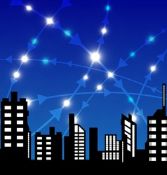 city with communication vector image
