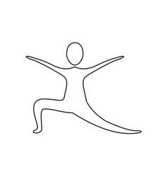 figure person practicing dancing vector image
