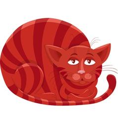 Red cat character cartoon vector