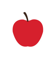apple fruit food delicious fresh vector image