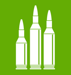 bullet ammunition icon green vector image