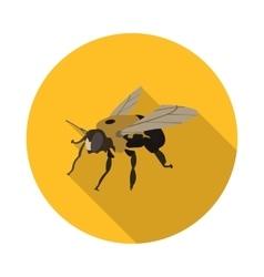 flat icon bee carpenter vector image vector image