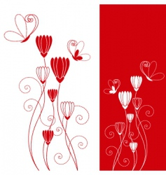 flower butterfly vector image vector image