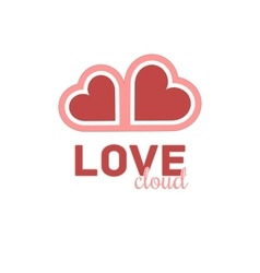 Heart cloud symbol logo icon design template vector image