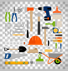 house repair construction or working tools vector image vector image