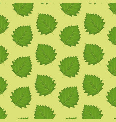 pattern color set decorative of green leaves vector image vector image