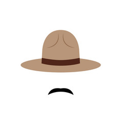 policeman with canadian hat icon vector image