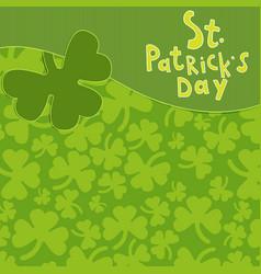 saint patrick s day greeting card vector image
