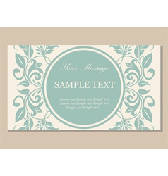 vintage floral card green vector image vector image