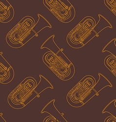 classical music instruments seamless pattern vector image vector image