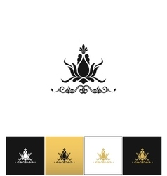 Floral spa logo or elegant flower leaves vector image