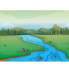 Flowing river vector image vector image
