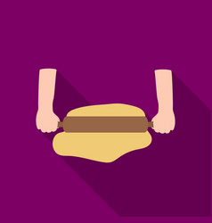 rolling the dough icon in flat style isolated on vector image vector image