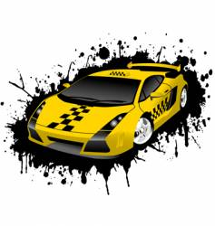taxi stains vector image vector image