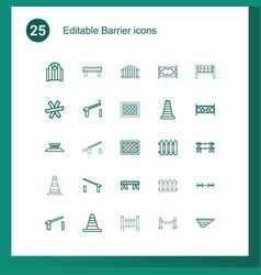 25 barrier icons vector