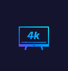 4k tv video streaming icon vector image