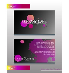 A front and back design of a card vector image