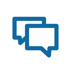 A simple blue icon about the message chat vector