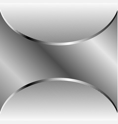 Abstract silver background with copy space vector