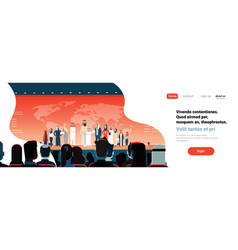 arab business people group conference meeting vector image